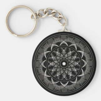 Consciousness - Sacred Geometry Mandala Key Ring