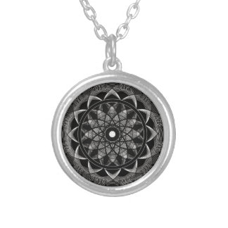 Consciousness - Sacred Geometry Mandala Silver Plated Necklace
