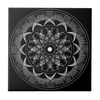 Consciousness - Sacred Geometry Mandala Small Square Tile