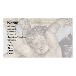 Consecration Of Putti Plate  By Mantegna Andrea Business Card