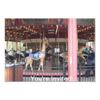 Conservation Carousel Childs Birthday Invitation