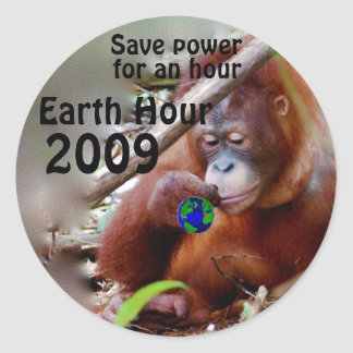 Conservation Every Hour Round Stickers
