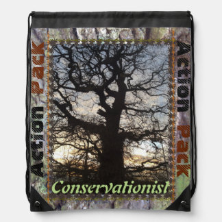 Conservationist :Action Pack Drawstring School Bag
