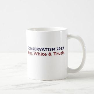 Conservatism 2012 basic white mug