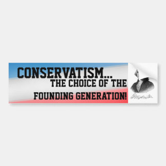 Conservatism Car Bumper Sticker