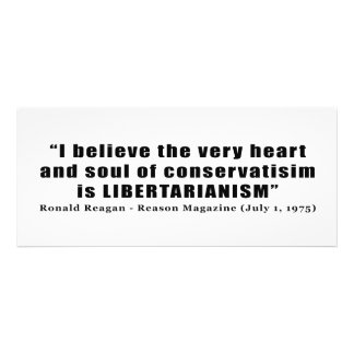 Conservatism Libertarian Quote by Ronald Reagan Custom Announcements
