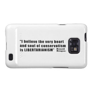 Conservatism Libertarianism Quote by Ronald Reagan Samsung Galaxy SII Cover