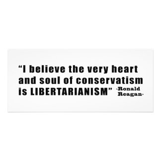 Conservatism Libertarianism Quote by Ronald Reagan Personalized Invitation