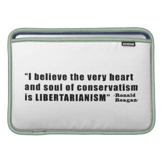 Conservatism Libertarianism Quote by Ronald Reagan Sleeve For MacBook Air