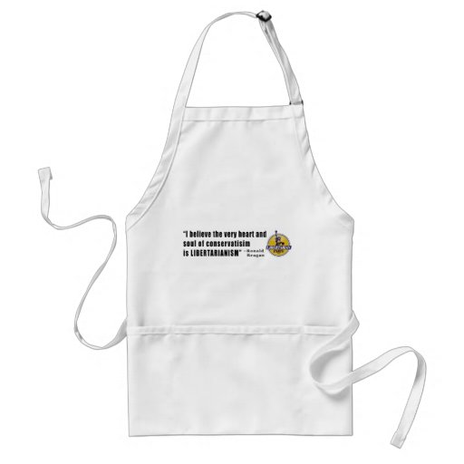 Conservatism Quote by President Ronald Reagan Apron