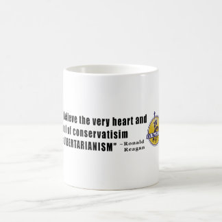Conservatism Quote by President Ronald Reagan Basic White Mug