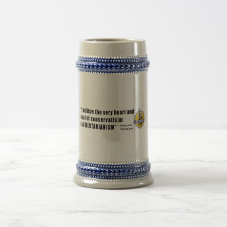 Conservatism Quote by President Ronald Reagan Beer Steins