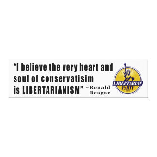Conservatism Quote by President Ronald Reagan Canvas Prints