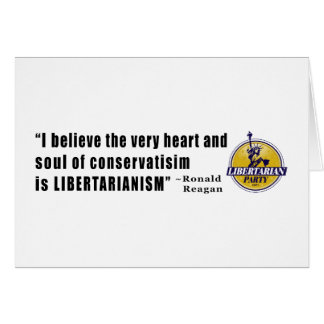 Conservatism Quote by President Ronald Reagan Cards