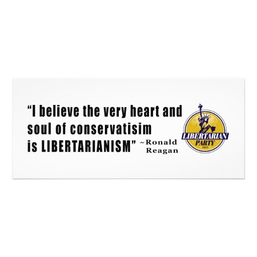 Conservatism Quote by President Ronald Reagan Personalized Invite