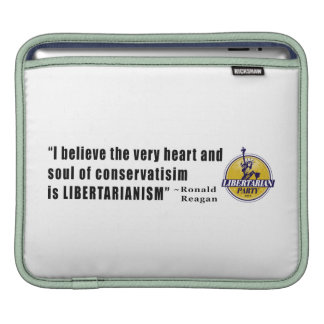 Conservatism Quote by President Ronald Reagan Sleeves For iPads