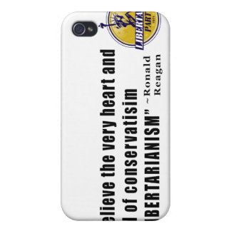 Conservatism Quote by President Ronald Reagan Covers For iPhone 4