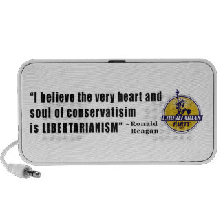 Conservatism Quote by President Ronald Reagan Mini Speaker