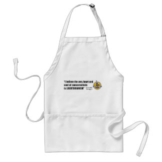 Conservatism Quote by President Ronald Reagan Standard Apron