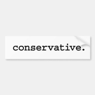 conservative. car bumper sticker