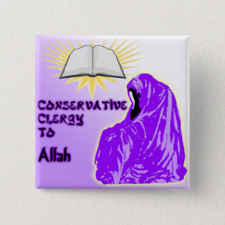 Conservative Clergy to Allah Party Logo 15 Cm Square Badge