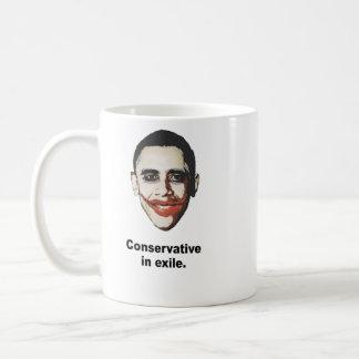 Conservative in exile basic white mug