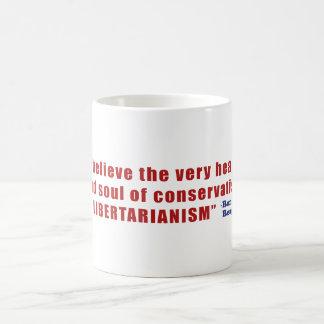 Conservative Libertarian Quote by President Reagan Basic White Mug