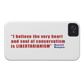 Conservative Libertarian Quote by President Reagan Case-Mate iPhone 4 Cases