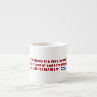 Conservative Libertarian Quote by President Reagan Espresso Mug