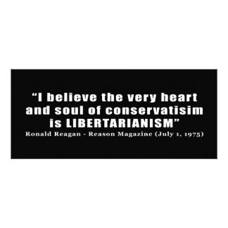 Conservative Libertarian Quote by President Reagan Personalized Invitations