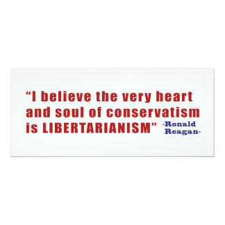 Conservative Libertarian Quote by President Reagan 10 Cm X 24 Cm Invitation Card