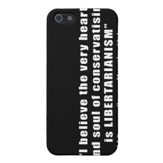 Conservative Libertarian Quote by President Reagan iPhone 5 Case