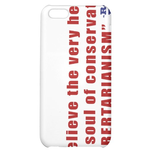 Conservative Libertarian Quote by President Reagan iPhone 5C Covers