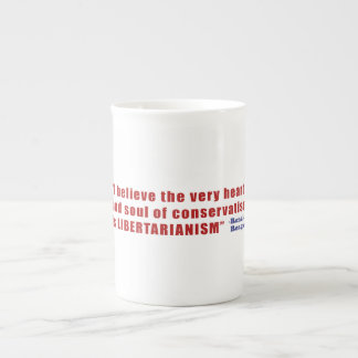 Conservative Libertarian Quote by President Reagan Porcelain Mug