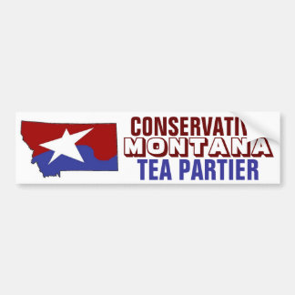 Conservative Montana Tea Partier Bumper Sticker