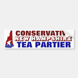 Conservative New Hampshire Tea Partier Bumper Sticker