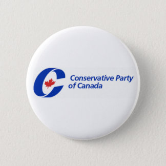 Conservative Party of Canada Logo 6 Cm Round Badge