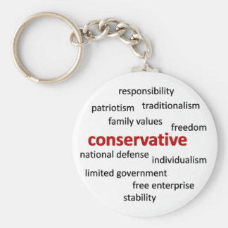 Conservative philosophy and values key ring