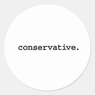 conservative. round sticker