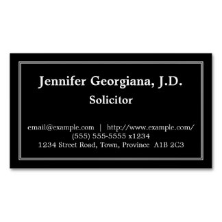 Conservative Solicitor Magnetic Business Card Magnetic Business Cards