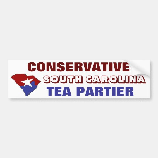 Conservative South Carolina Tea Partier Bumper Sticker