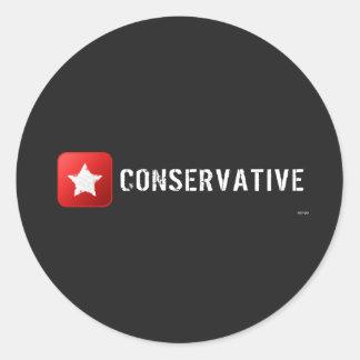 Conservative Star Round Sticker