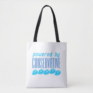 CONSERVATIVE TEARS tote med. wht Tote Bag