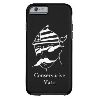 Conservative Vato White on Dark Phone Case