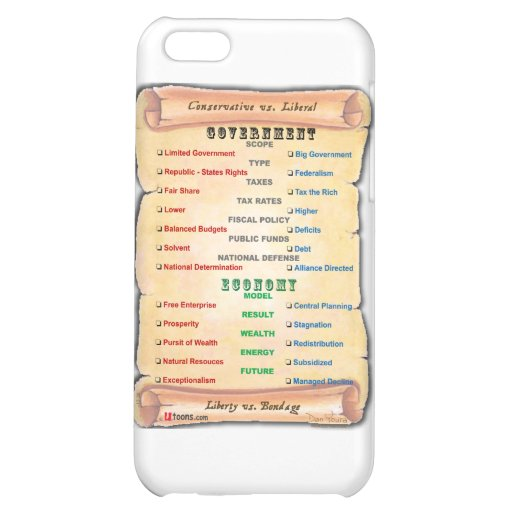 Conservative vs. Liberal 1 Case For iPhone 5C