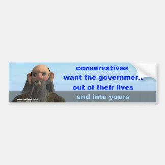 conservatives bumper sticker