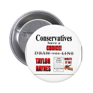 Conservatives have a choice 6 cm round badge