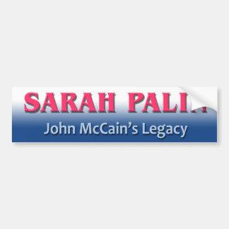 "Conservatives ""Sarah Palin McCain Legacy"" Car Bumper Sticker"