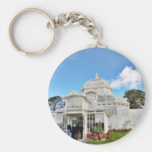 Conservatory Of Flowers In Golden Gate Park In San Key Chain