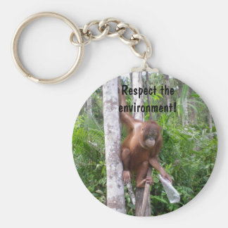Conserve Nature Basic Round Button Key Ring